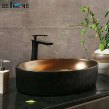 vessel shape cooper metal color wash basin lavatory oval bronze bathroom sink