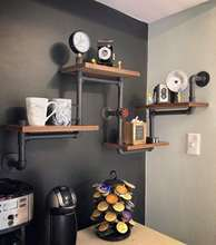 Industrial Rustic Modern Wood Ladder Pipe Wall Shelf Pipe Design Bookshelf Diy Shelving