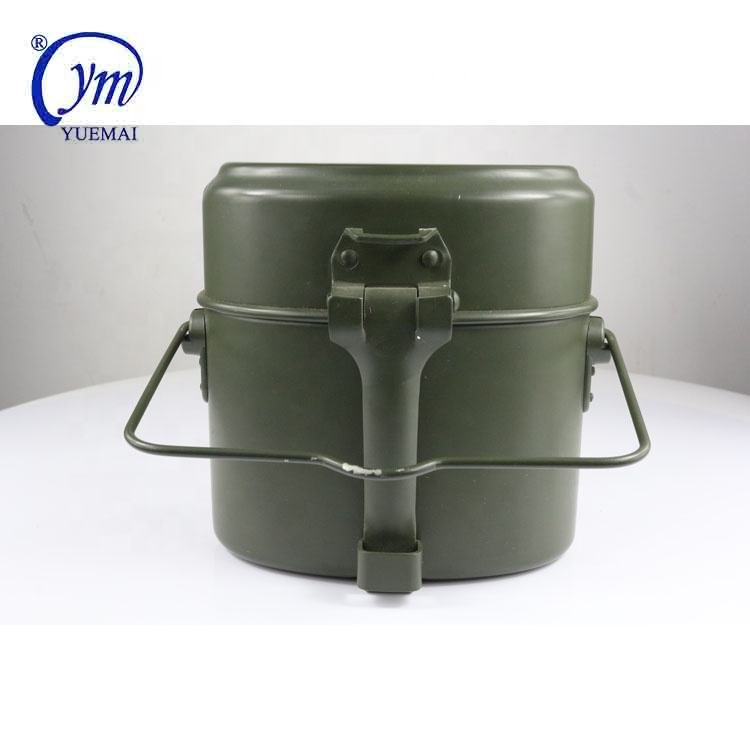 Army aluminium german olive canteen 3 in 1 mess tins military lunch box