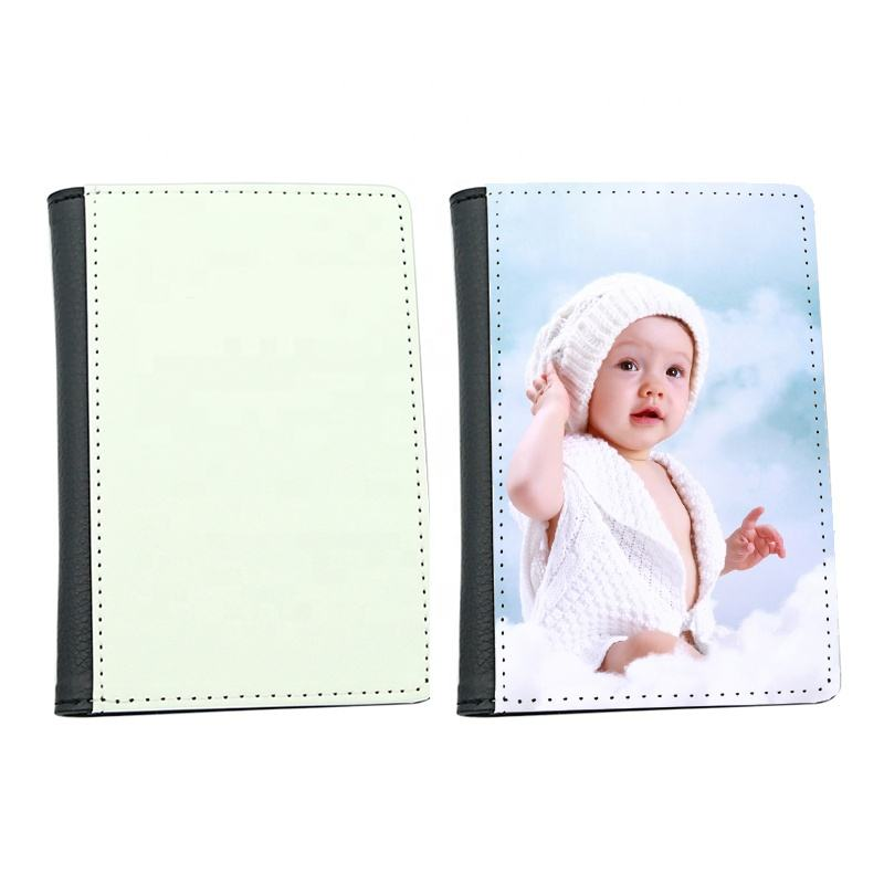 High Quality OEM Customize Passport Cases Sublimation Printable PU Leather Passport Holder