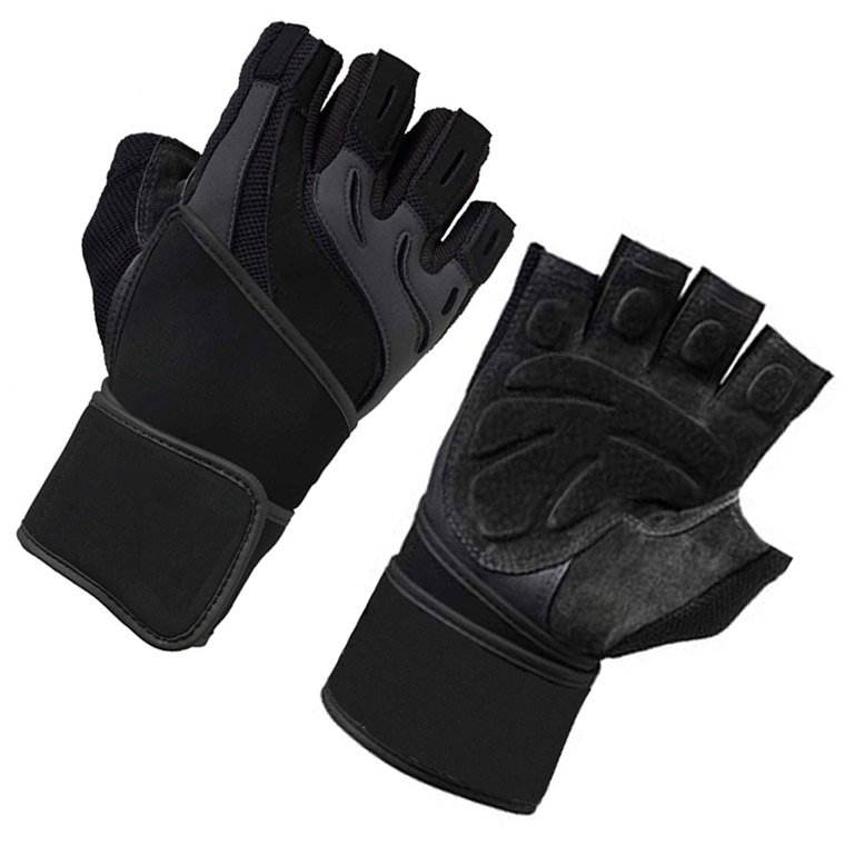 black weight lifting gym gloves half finger weight lifting gloves Weight Lifting Gloves