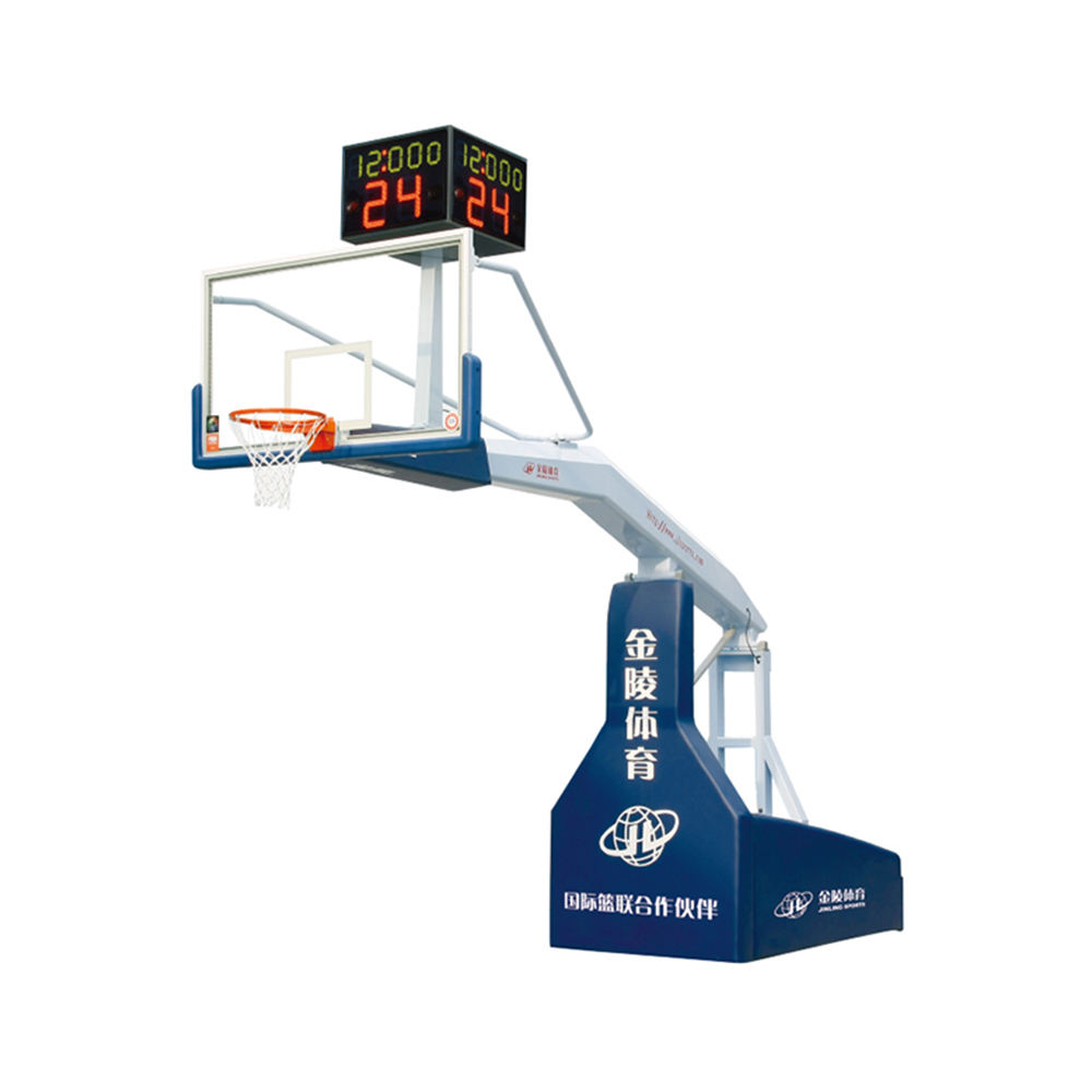 Stunity FIBA Approval Adjustable Electro Hydraulic Basketball Backboard Stand