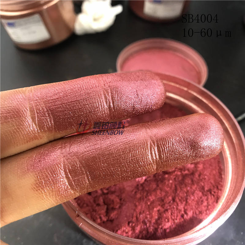 Sheenbow Metallic Luster Pearlescent Pigment Mica Powder for Cosmetics Iron oxide red mica powder