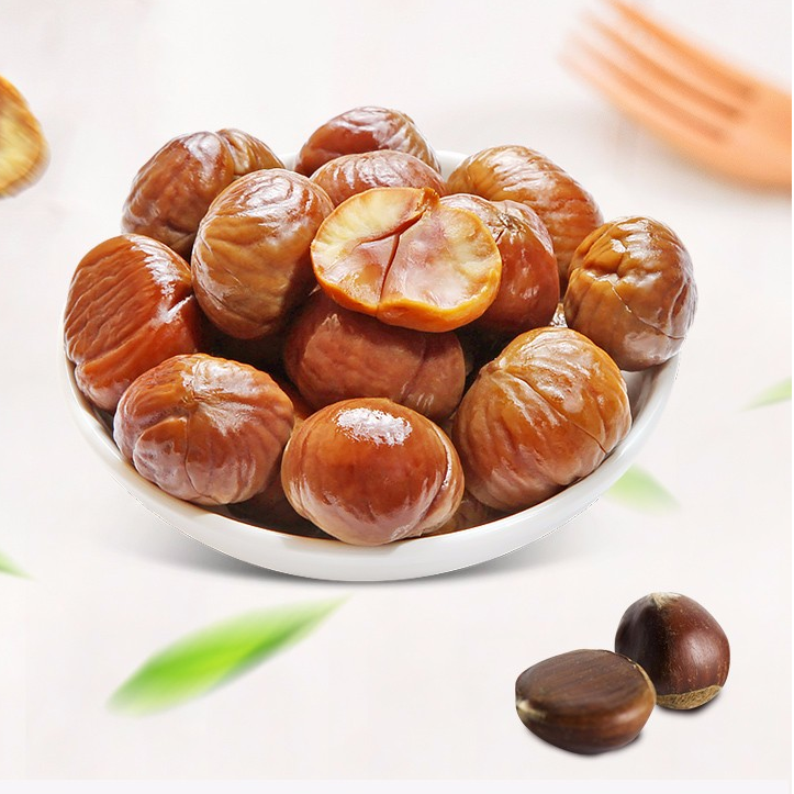 Delicious dried fruit and nuts roasted whole chestnuts shelled