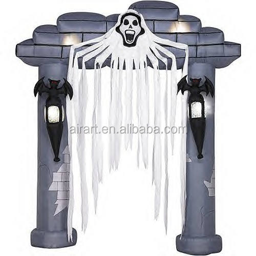 Outdoor halloween begraafplaats decoratie opblaasbare boog