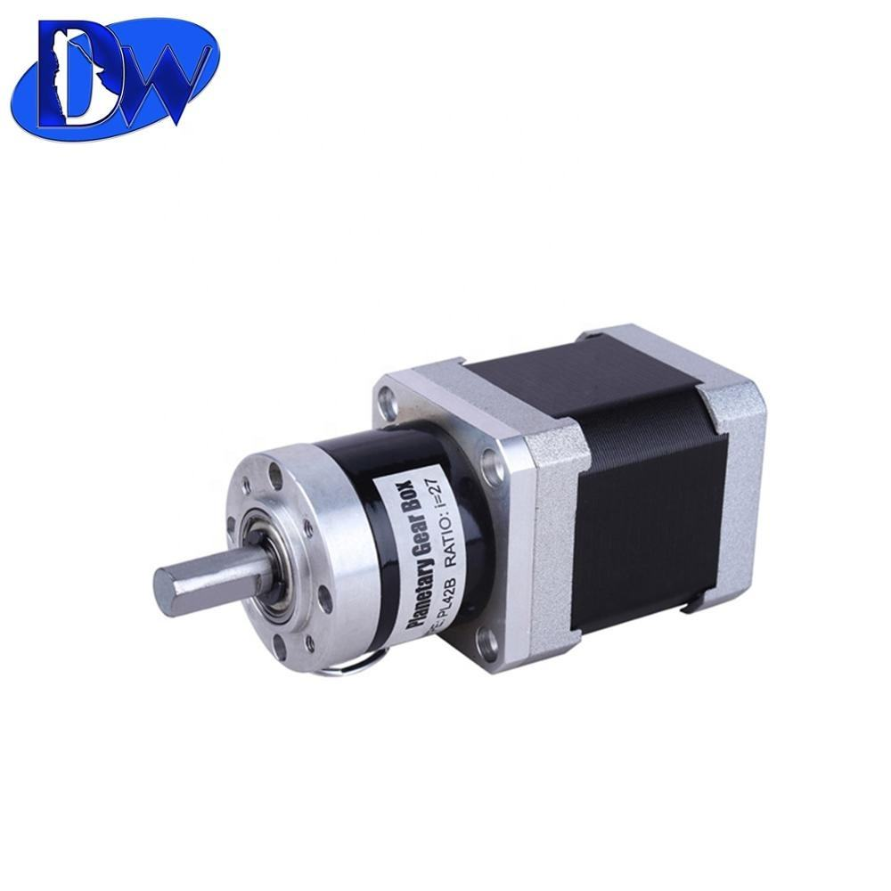 Reduction ratio 10:1 nema 17 stepper gear motor