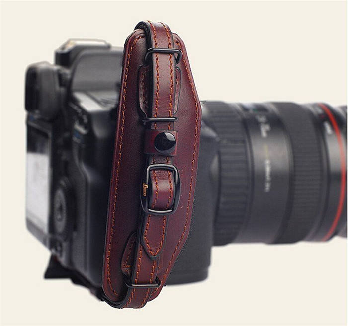 Boshiho customized leather camera hand grip elastic wrist strap
