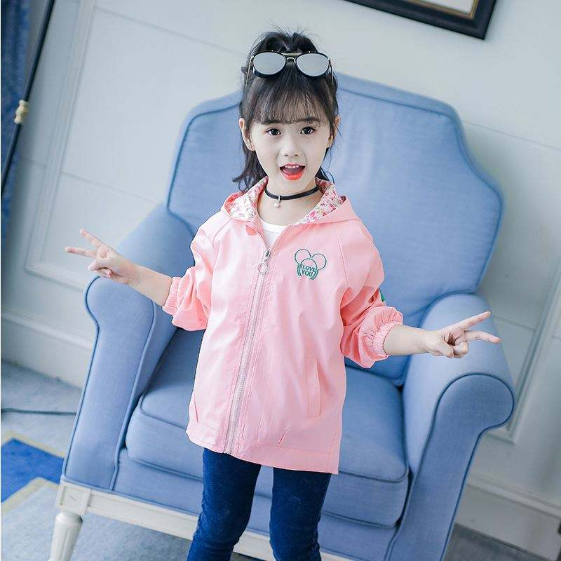 2018 Products Promotion Girls Children ClothingJacket Coat with Cartoon Embroidery Made In China