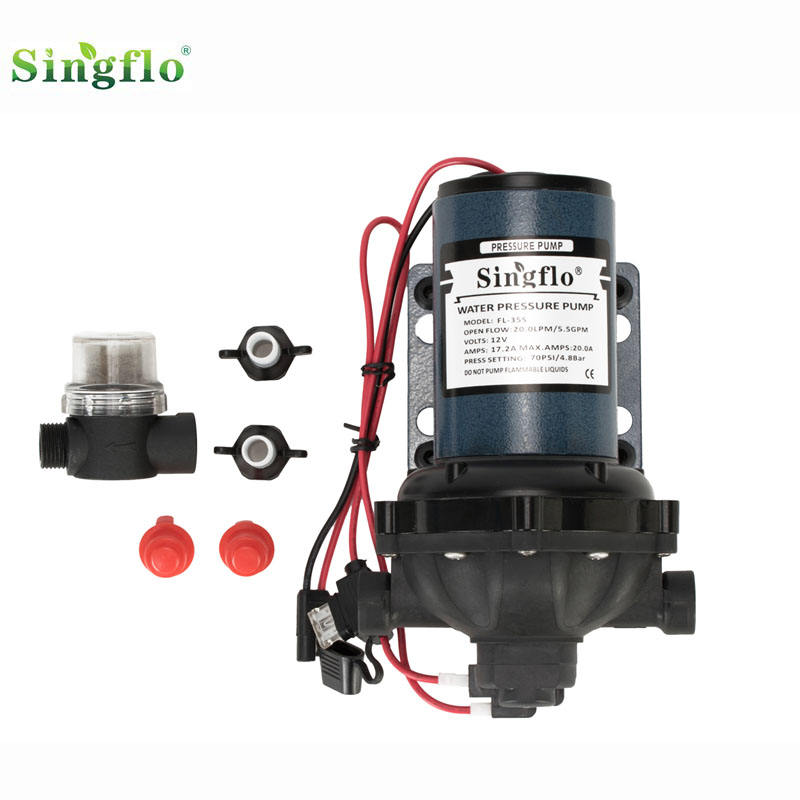Singflo 20LPM 70psi FL-35S washdown cleaning boats ,fish boxes, anchor chains pump kits pumps