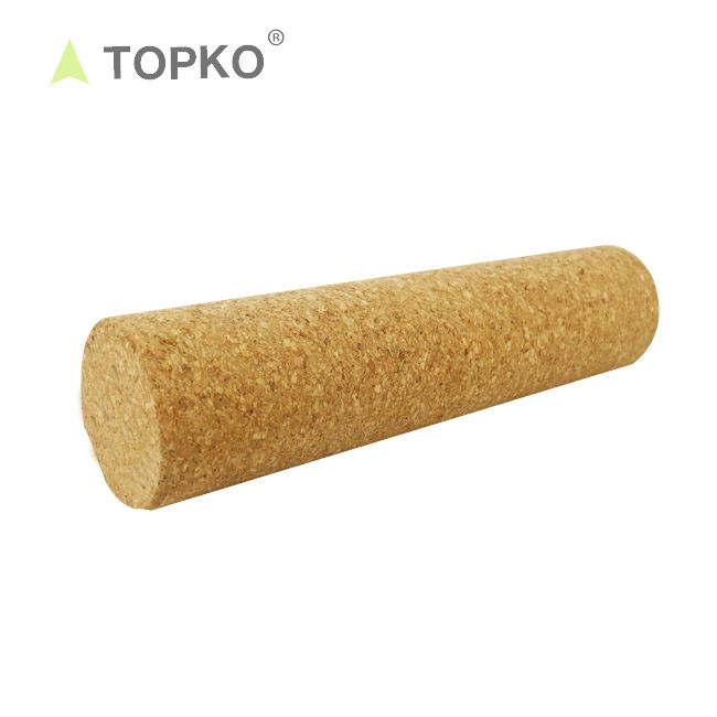 TOPKO yoga roller high density Pilates cork foam roller