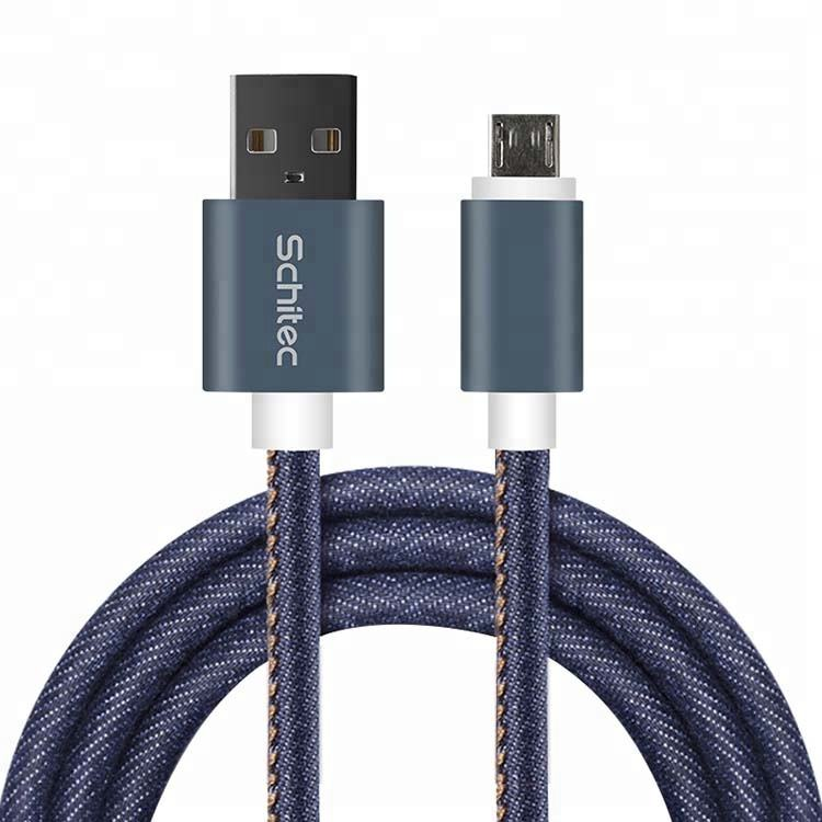 Braid jacket USB cable, micro for charging and date transfer 8pin for iPhone