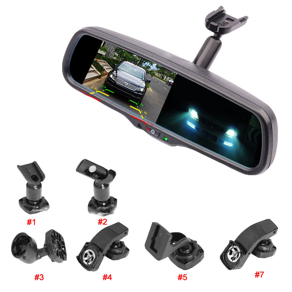OEM EC Glass 1000cd/M2 A+ Monitor Auto Dim Mirror 4.3 Inch Car Auto Dimming Rearview Mirror