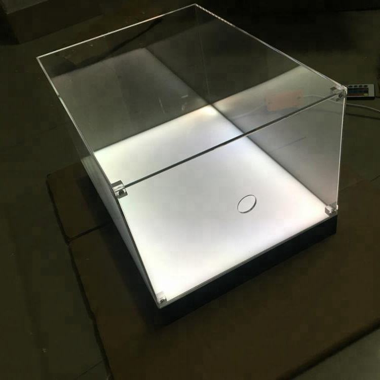 Giant Clear Plastic Shoe Box With LED Wholesale Acrylic Sneaker Display