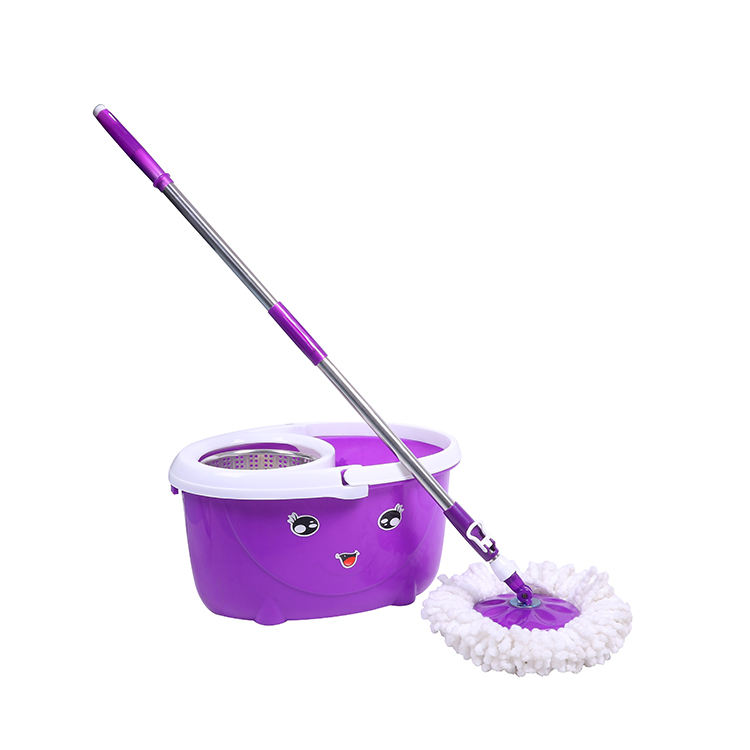 online selling easy magic cyclonic cleaning spin of mop with smiling face mop bucket