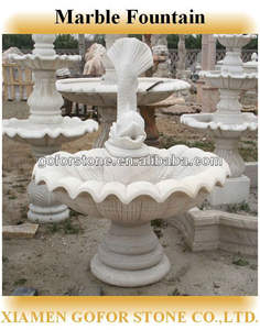 Stone carving fountain for sale, fish stone water fountain