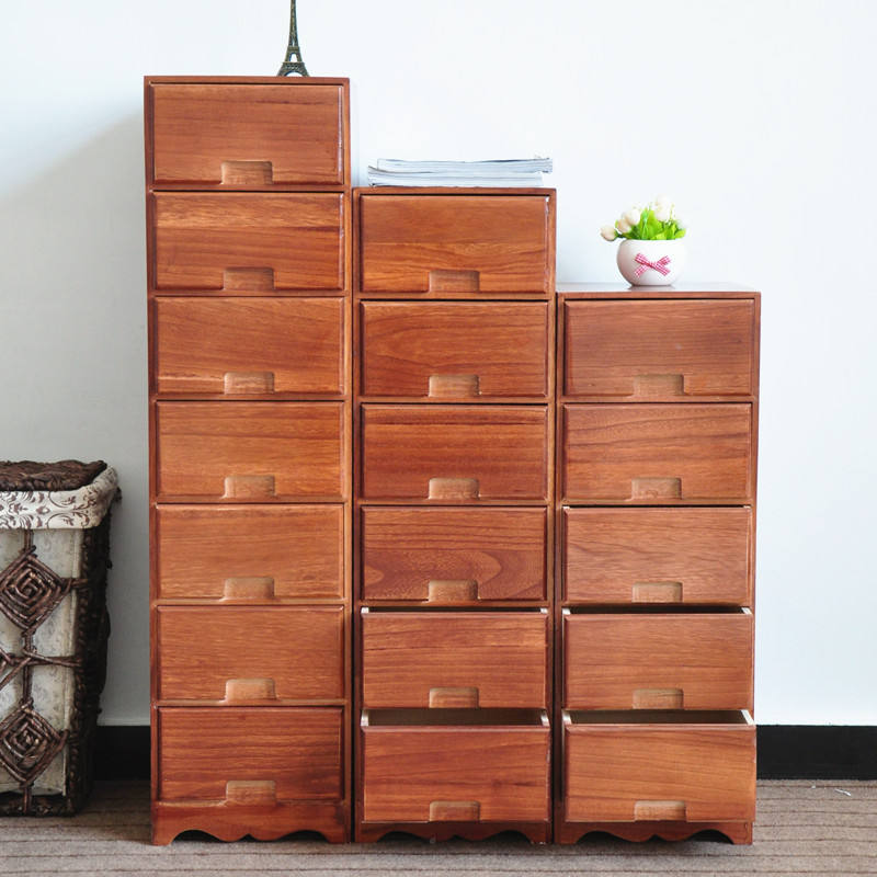 Vintage Office furniture Receive ark custom 5 drawers solid wooden storage cabinet