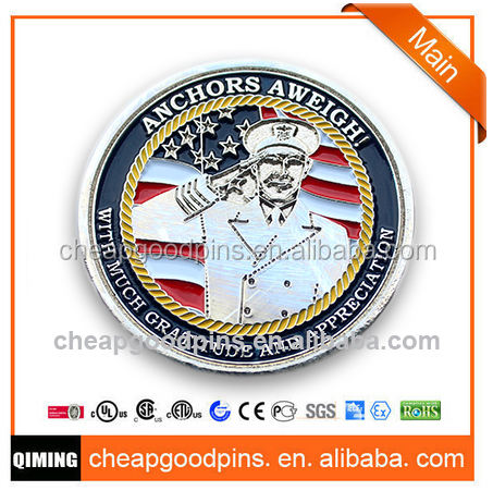 Nickel118th wing customized military souvenir challenge coin