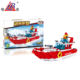 China Factory red plastic 220pcs fire police fireboat kids building blocks