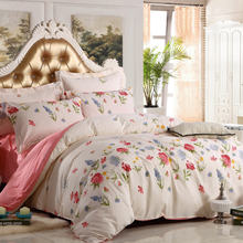 Latest Beautiful Bridal Floral Design 100% Cotton Reversible Fabric Printed Quilt Bedspread Bed Sheet , Bed Cover Sheet