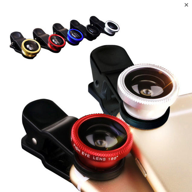 Senlan Mobile Phone Lens 3 in1 Kit Universal Clip Smartphone 카메라 렌즈로 구성 Wide Angle Macro Fish 눈 대 한 IPhone