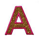 Custom Arial Glitter Sparkle Letter Patch