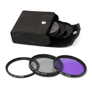 37-82 Mm Filter Lensa Kamera 52/58/62/72/77/82 Mm UV + CPL + FLD Kit Filter