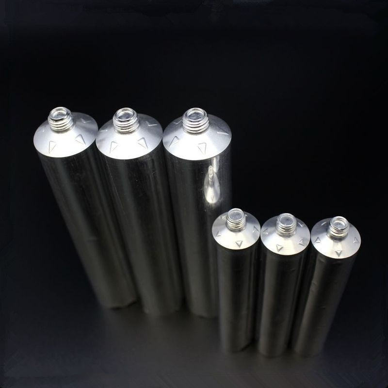 Aluminum tube for packaging adhesive glue with warning triangle tactile indicators EU standard