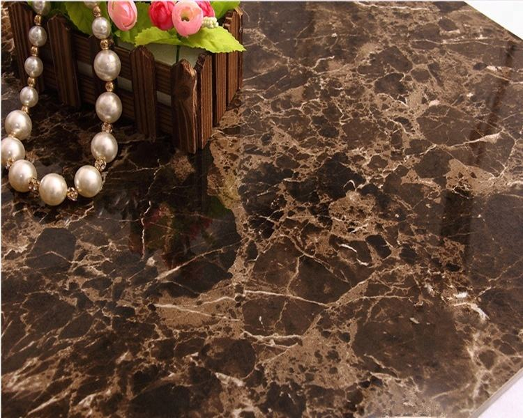 Spanish Polished Marble Dark Emperador Marble Tile