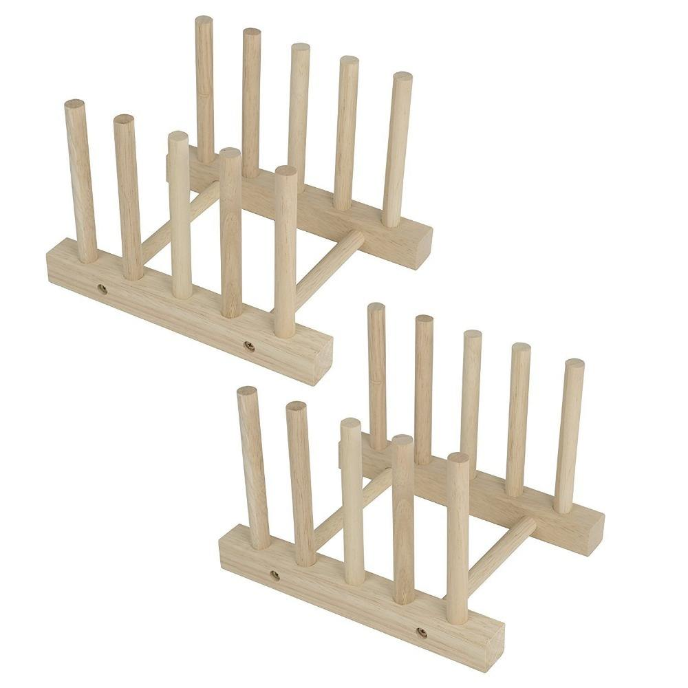 Piatto di legno Piatto Cremagliera Del Basamento Pot Lid Holder Kitchen Cabinet Organizer