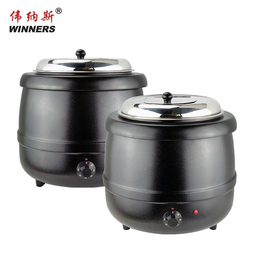 Высокое качество <span class=keywords><strong>большой</strong></span> черный 13L теплые Электрический суп Отопление горшок для семьи