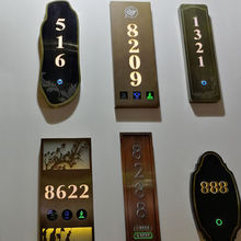 Led Brass House Door Numbers Signs