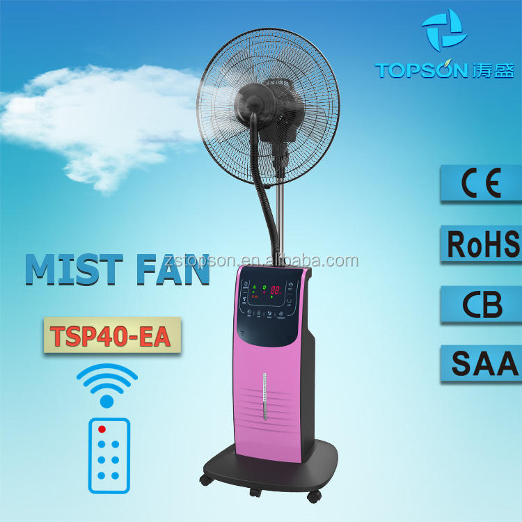 220-240V water spay misting fans / eletric mist fan with mosquito repellent