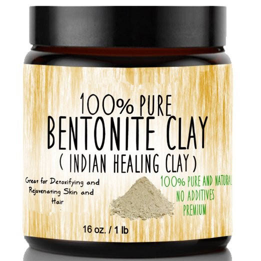 Bentonite Clay for Detoxifying and Rejuvenating Skin and Hair, 16 oz.