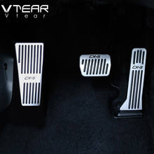 Vtear car pedal For Mazda CX5 CX-5 accelerator Oil footrest Pedal Plate Clutch Throttle Brake Treadle Interior Accessories