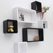 Floating Cube Wall Mount Wooden Shelf MDF wood wall mounted shelf