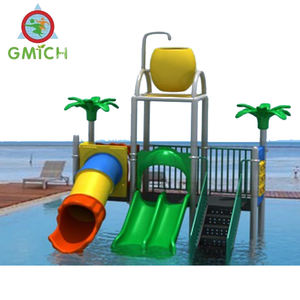 Water Park Projects Guangzhou Supplier Children Garden Swimming Pool Playground Plastic Slide