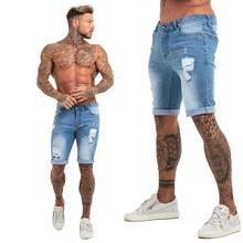 Men Skinny Jeans New Model Ripped Denim Jeans Men Street Wear Blue Skinny Men Jeans Shorts