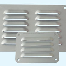 Household rectangle silver aluminum louvre air vent