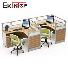 Contemporary Office Cubicles 2 Person Office Partition Workstation