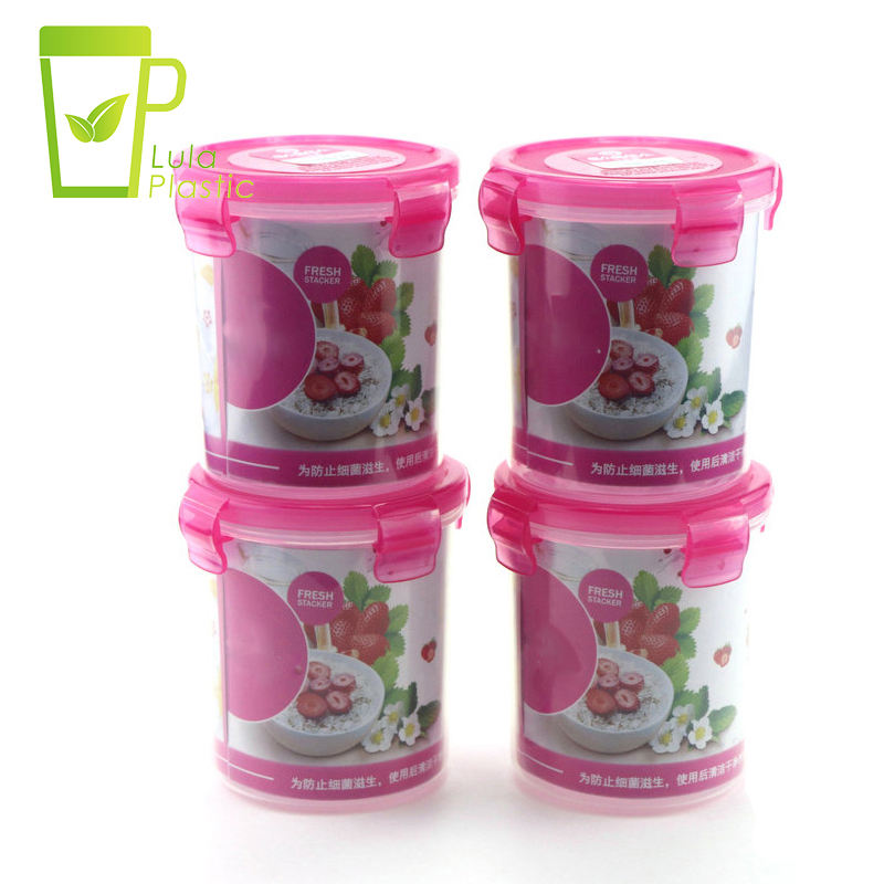 LULA Plastic Container 500ml Sealed Crisper Round Kitchen Food Container