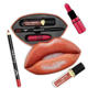 Private label wholesale mouth container long lasting lipgloss waterproof lip liner matte Cosmetics lipstick kit
