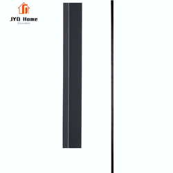 "JYD Satin Black 1/2"" Hollow Iron Plain Spindles Powder Coated Iron Balusters For Sale"