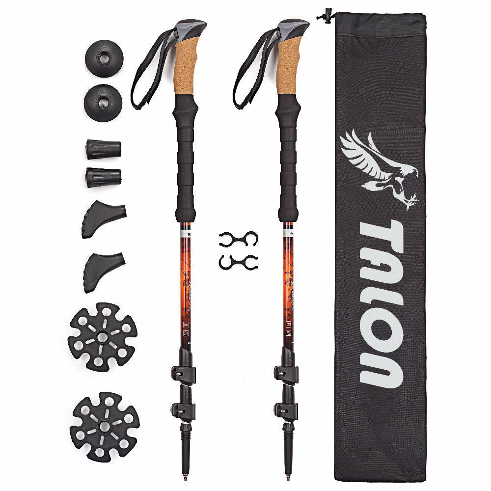 Appearancnes Alpenstocks 3-Section Adjustable Aluminum Alloy Canes Ultralight Pole Walking Camping Hiking Trekking Sticks Plastic Handle