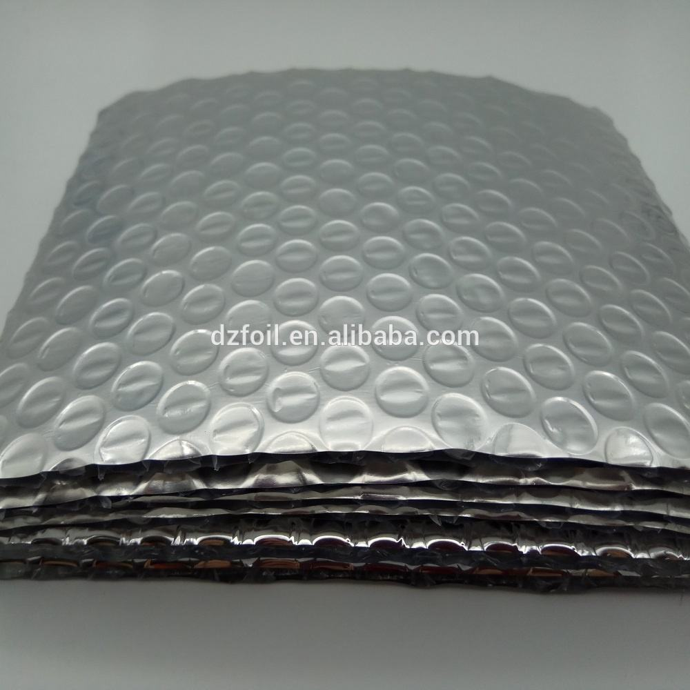 Metalized foil or aluminum foil double bubble roofing material for metal roof
