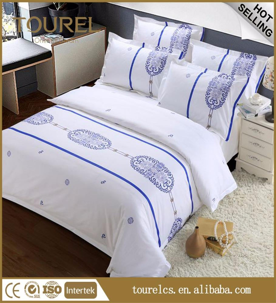 Hot good quantity China Manufacturer Used Hotel Chinese Manufacture New Bed Sheet Bedding Set Low Price