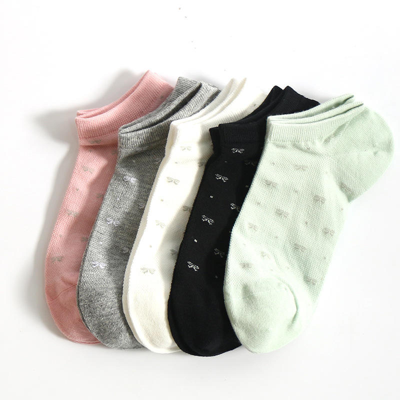 Elastic Youthful Solid Color Simple Custom Made Cotton Women Ankle Fuzzy Socks Teen Girl Ankle Socks