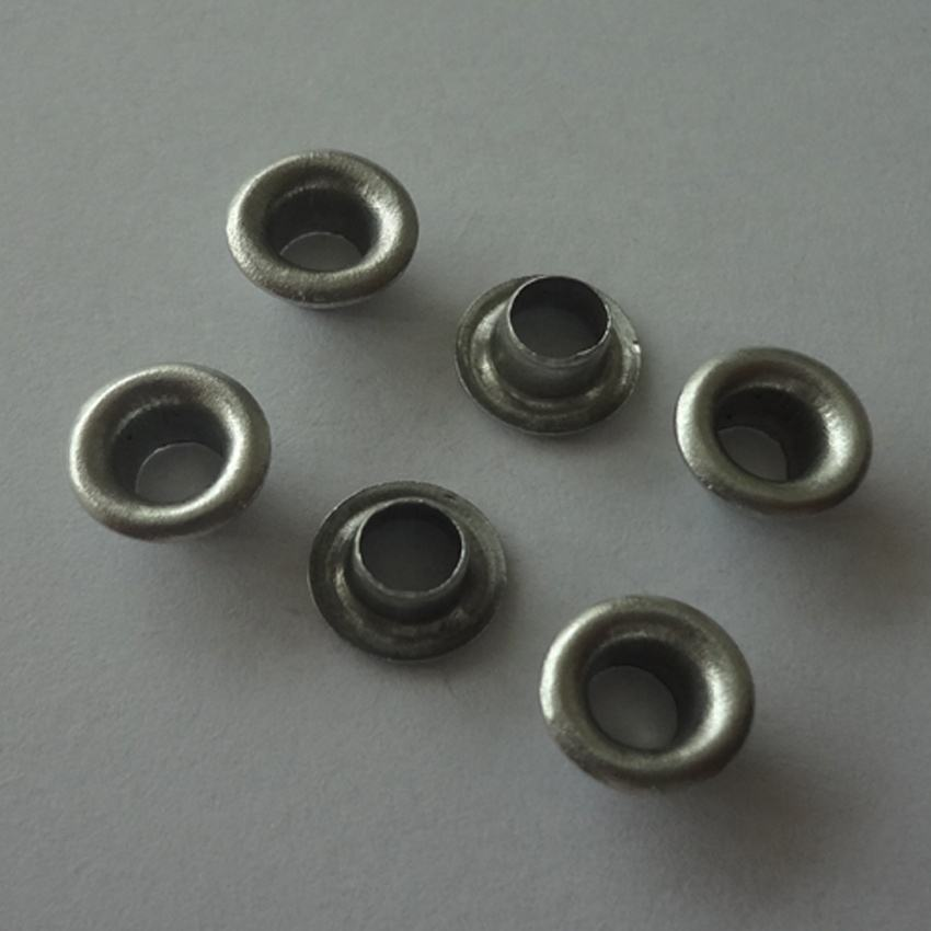 Small stainless steel eyelet