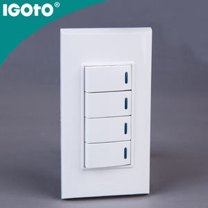4 Gang 1 way WiFi control remoto interruptor de pared marca