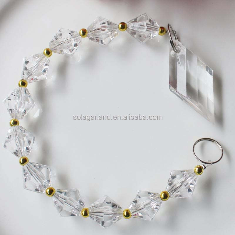 Clear Acrylic Crystal Chandelier Prisms Pendants Glass Pendants Beads