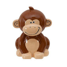 New Product Cute Charming Smile Ceramic Monkey Coin Bank